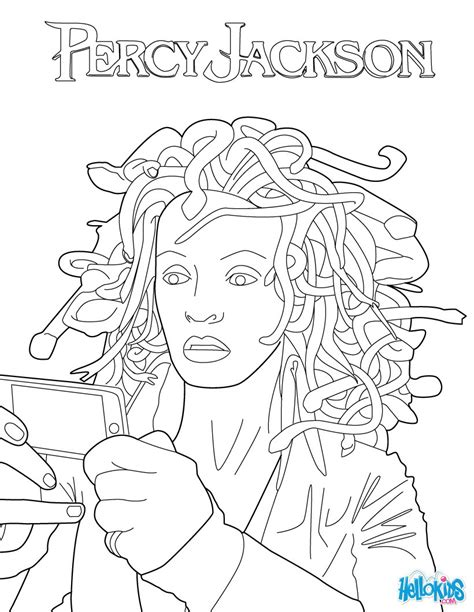 percy jackson coloring pages medusa coloring pages hellokids