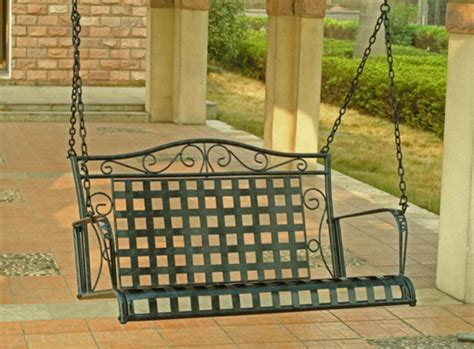 iron porch swing wrought iron patio swing porch swings by overstock com