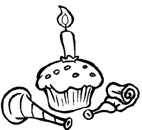 happy birthday cupcake coloring pages cupcakes netart part 2