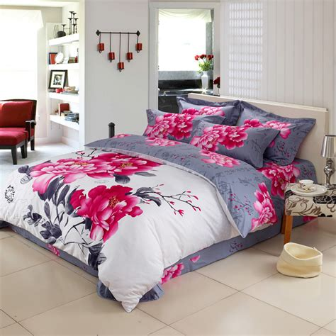 Bed Sheet And Blanket Sets Aliexpress Buy High Quality 100 Cotton Reactive Printing Bedding Set Pillowcase Duvet
