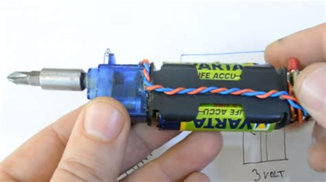 what do you need to make an electric circuit a hack a day how to make mini electric screwdriver at home