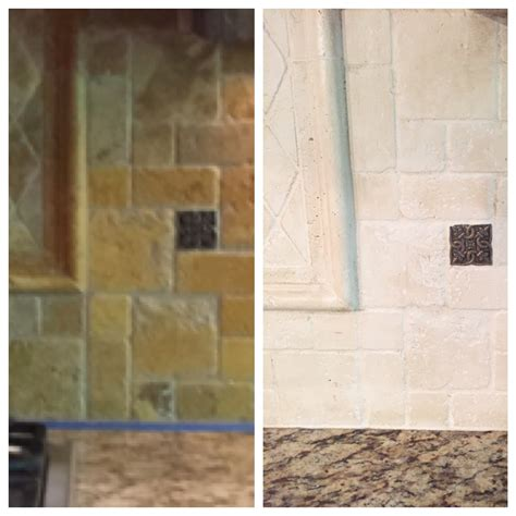 tumbled marble kitchen backsplash for the home pinterest the kitchen lighten up painting a tumbled stone