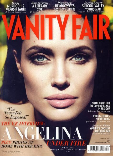 magazine layout vanity fair the changing magazine cover of angelina jolie popbabble