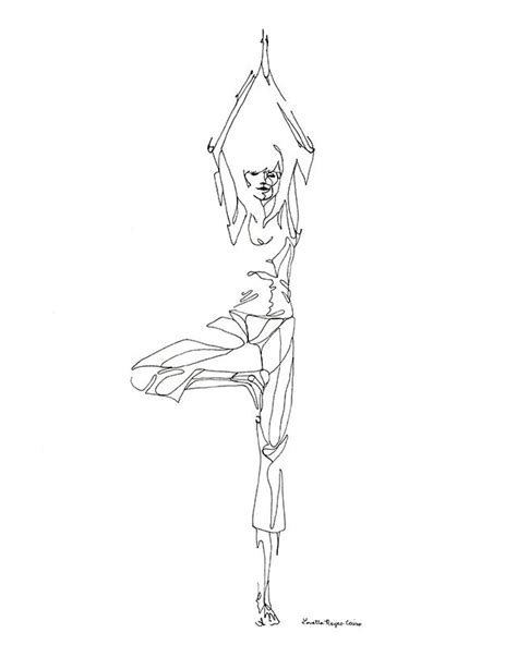 Yoga Meditation Pose Drawing Loading