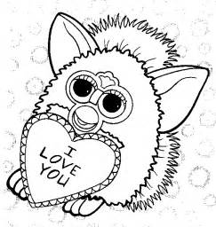colour furby colouring pages