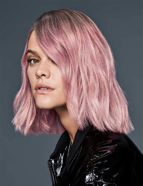 pink hair color pastel pink haircolor redken