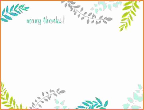 word templates for thank you cards thank you card template word feminine thank you card