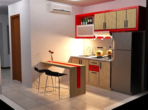 design kabinet dapur untuk apartment dapur nifarro apartment natural design condet