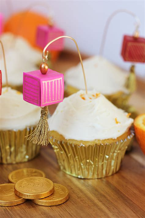 How To Make A Paper Cupcake - diy paper lantern cupcake toppers orange
