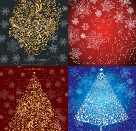 download christmas pattern vector christmas tree snow