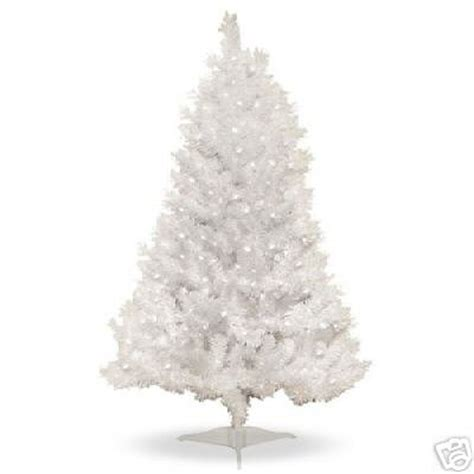 4 ft pre lit clear white indiana spruce artificial