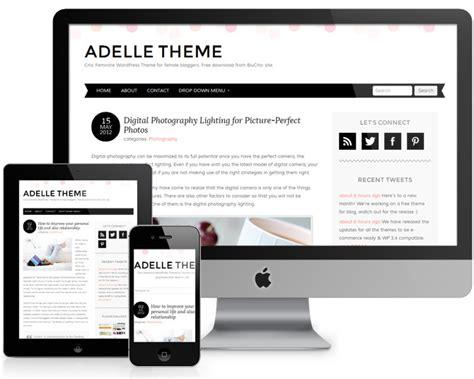 theme blog wordpress responsive adelle a free responsive wordpress theme with a pretty