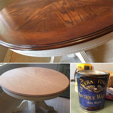 antique walnut gel stained card table revival in antique walnut general finishes design center