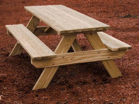 wooden attached bench picnic tables kauffman marketplace