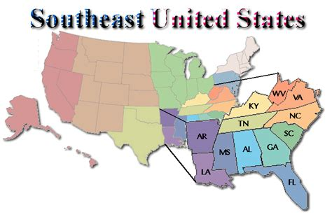 southeast map of the united states southeastern united states southeast u s