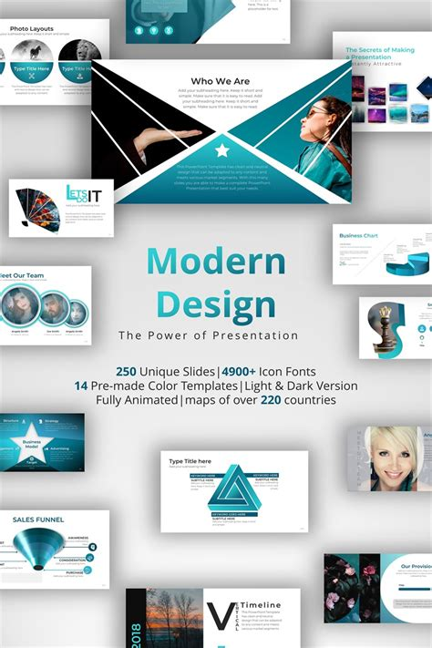 Modern Design Powerpoint Template 71145 Powerpoint Theme Template