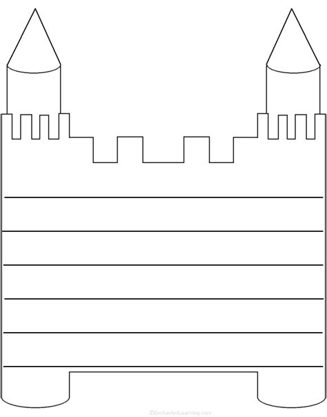 castle writing paper writing worksheets and castles k 3 theme