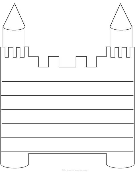 castle shape poem printable worksheet