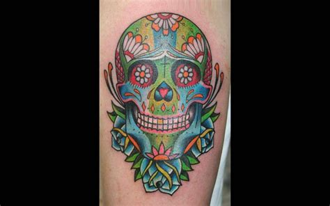guy fieri tattoo fabulous animated sugar skull design photos and