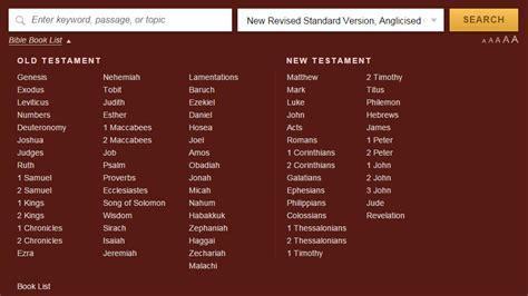list of chapters biblegateway help