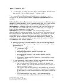 master thesis business plan