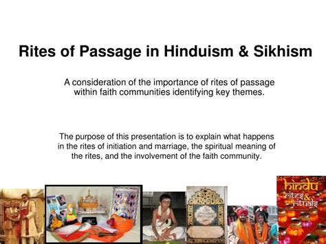 Rites Of Passage ppt rites of passage in hinduism sikhism powerpoint
