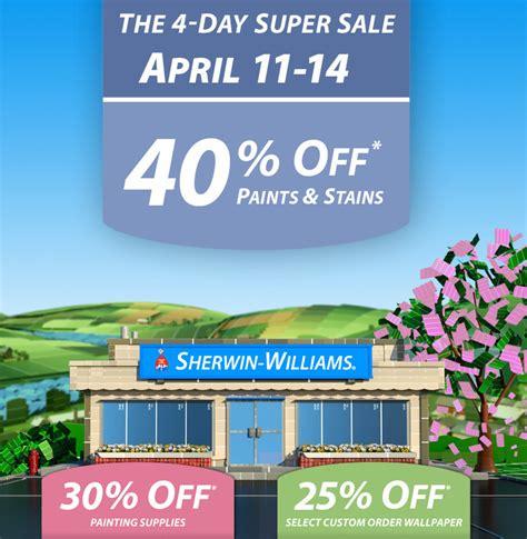sherwin williams paint store sale sherwin williams sale 40