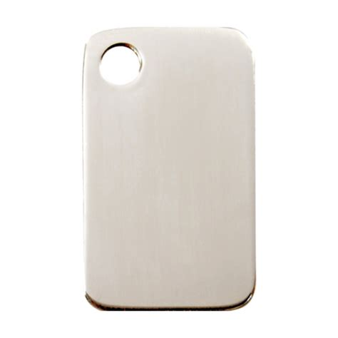 stainless steel tags stainless steel rectangle pet tag