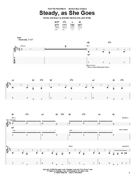 Steady As She Goes 3 by Steady As She Goes By The Raconteurs Guitar Tab