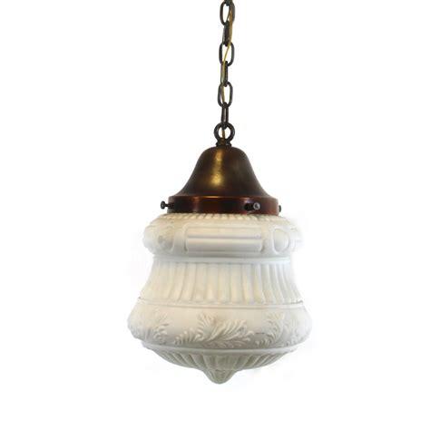 Antique Lighting Vintage White Pendant Light