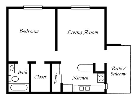one bedroom floor plans one bedroom trailer floor plans studio design