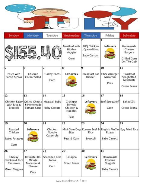 meal calendar best 25 meal calendar ideas on family meal