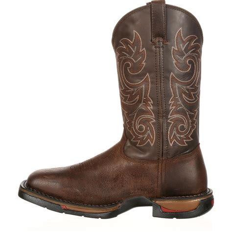 comfortable western boots rocky long range men s comfortable western work boots