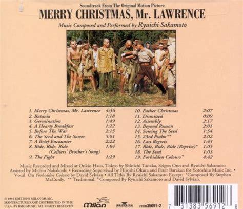 merry christmas  lawrence original soundtrack ryuichi sakamoto songs reviews credits