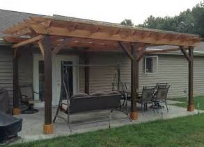How To Build A Covered Pergola by Covered Pergola Plans Design Diy How To Build 12 X24