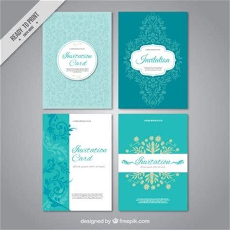 Hochzeitseinladungen Set Einladungen Vektoren Fotos Und Psd Dateien Kostenloser