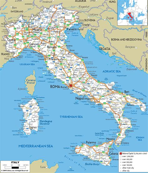 printable road map of europe detailed clear large road map of italy ezilon maps