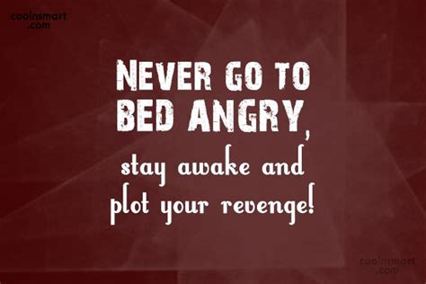 never go to bed angry never go to bed angry stay awake and plot revenge