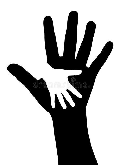 Helping hands vector stock vector. Illustration of
