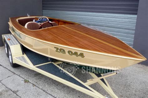 boat building timber seacraft 15 6 quot timber ski boat with dual axle trailer