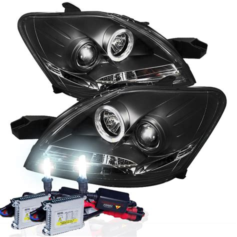 Lu Hid Xenon Projector 07 11 toyota yaris 4dr sedan led drl projector headlights