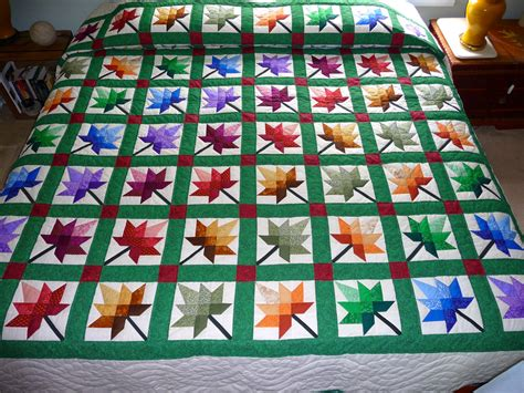 Maple Leaf Quilt Pattern by Maple Leaf Amish Quilt Autumn Splendor By Quiltsbyamishspirit