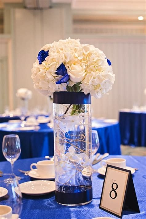 blue and gold centerpiece ideas royal blue centerpieces on royal blue weddings