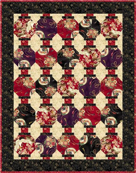 quilt pattern japanese lantern lanterns quilt kit made with quilt gate s 1 000 tsuru