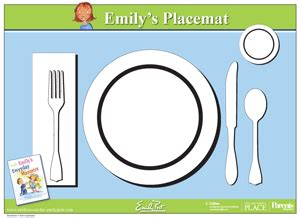 Printable Placemat For Learning How To Set The Table From Emily Post Table Setting For Kids Montessori Placemat Template