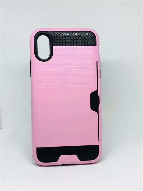 iphone xxs  cover brushed silicon crd slot case