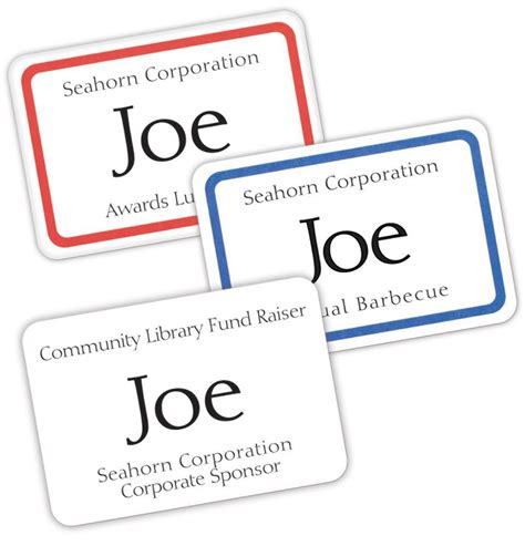 Avery Garment Friendly Clip Style Top Loading Name Badges 2 25 X 3 5 Inches White Box Of 100 2 25 X 3 5 Name Badge Template