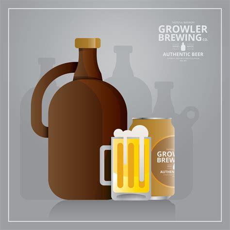 beer vector craft beer growler logo and symbol illustration download