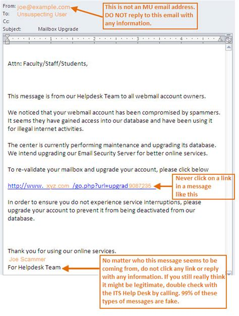 Cybersecurity Month It Services Marquette University Phishing Awareness Email Template