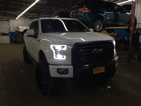 ford truck led lights daveantonio92 s build 2015 f150 22x12 on 35 quot retrofit